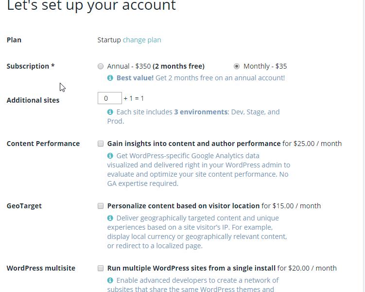 WP Engine Account Setup