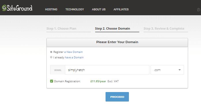 Domain name siteground