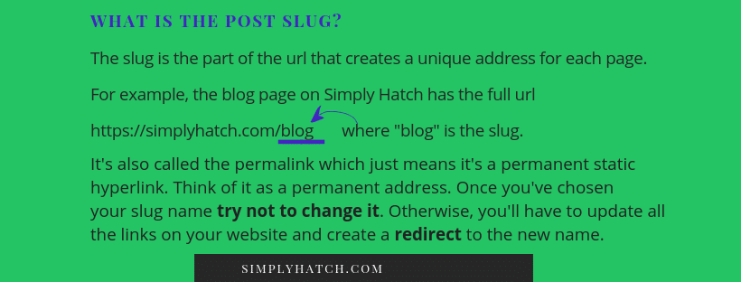 What is the Post Slug?
