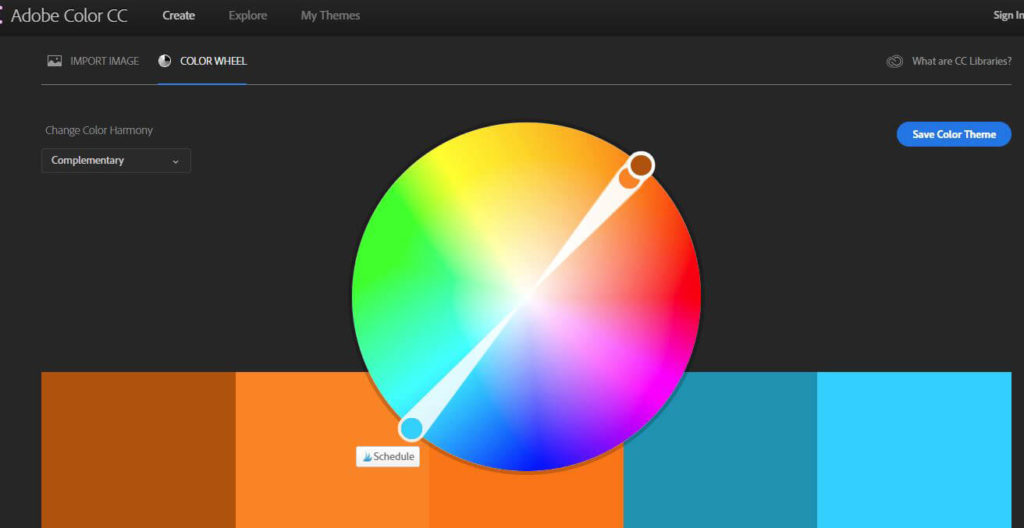 Adobe Color CC is an excellent tool for choosing your blog colours.