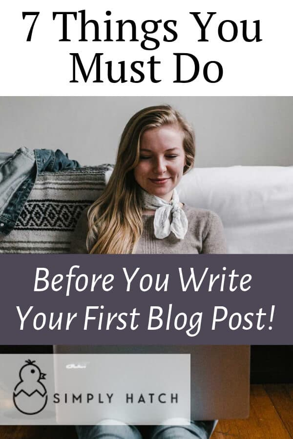 writing your first blog post