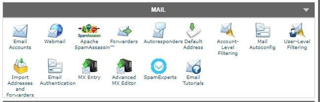 up your email in cPanel