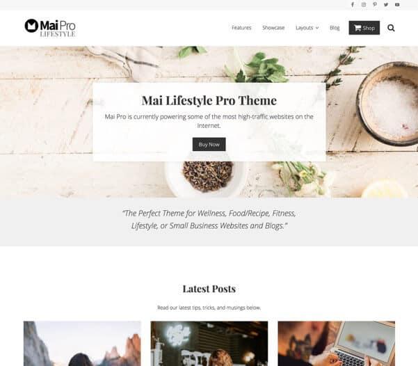 StudioPress Mai Lifestyle Pro Blog design tips