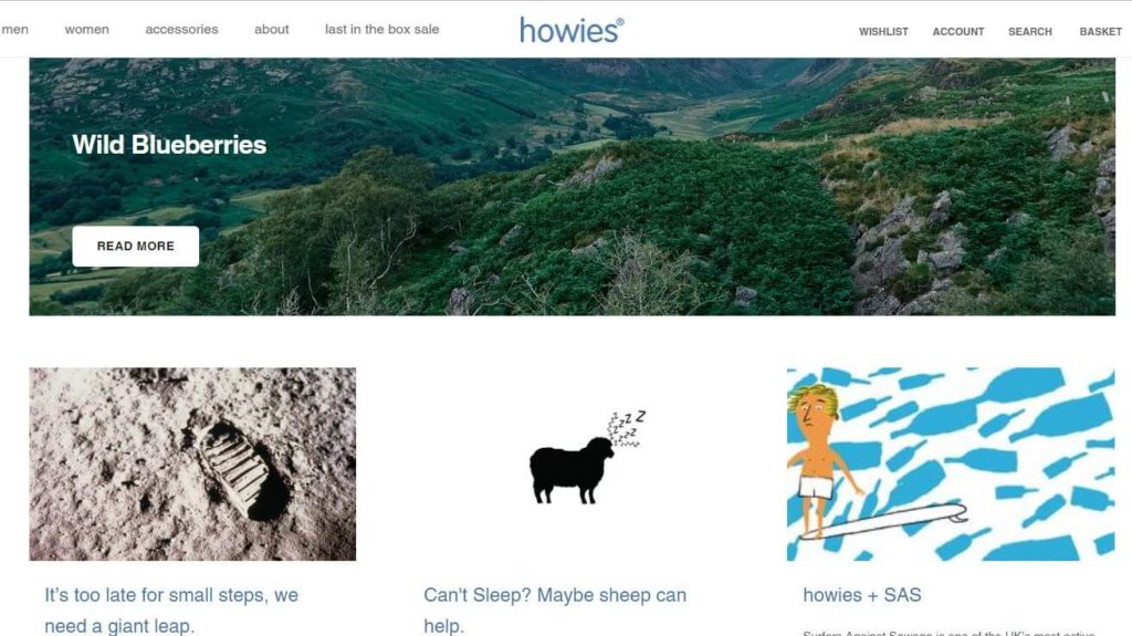 start a blog example howies