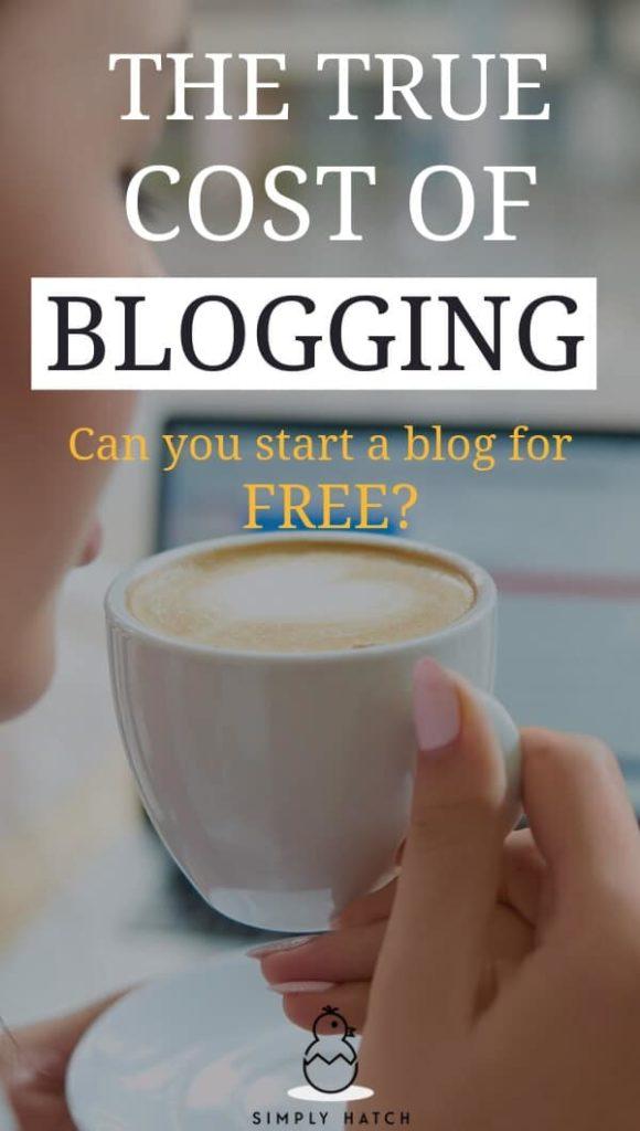 cost of blogging