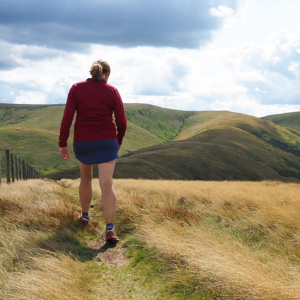 walking along the Scottish Border
