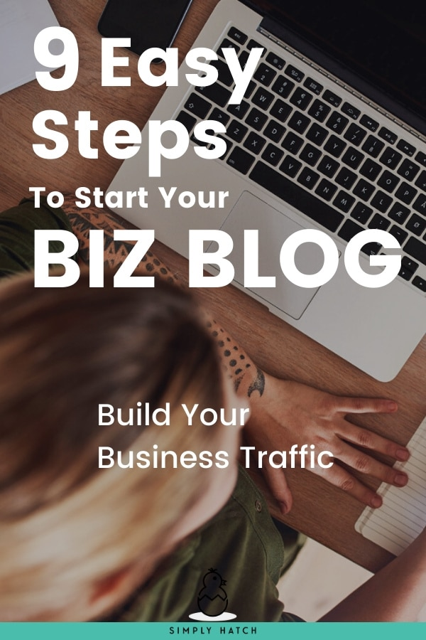 Find Out How To Start A Blog For Your Business In 9 Easy Steps. Set Up Your Website, Pick A Theme And Start Blogging Now! #businessblogging