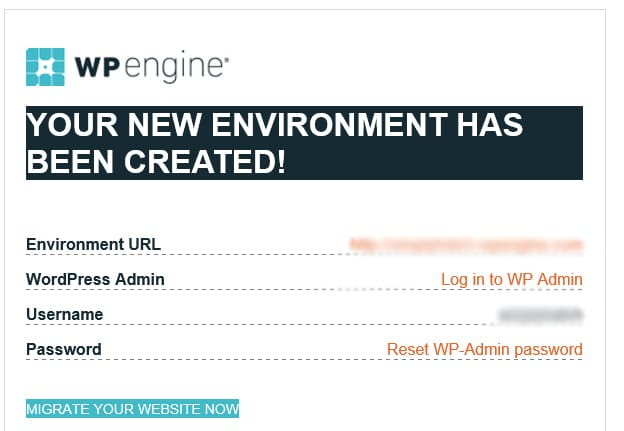Your WP Engine Website is Ready - start a business blog