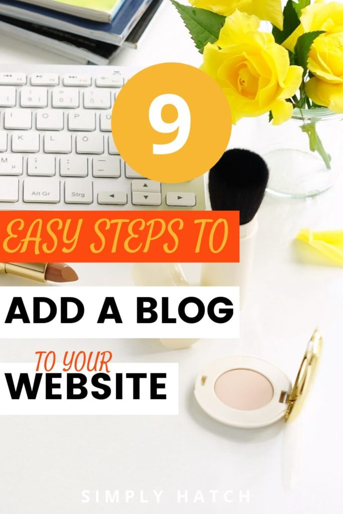 Add a blog to an existing website