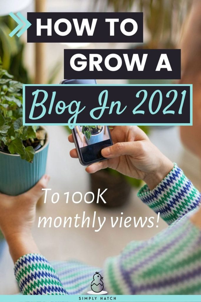 how to grow a blog to 100K monthly visitors
