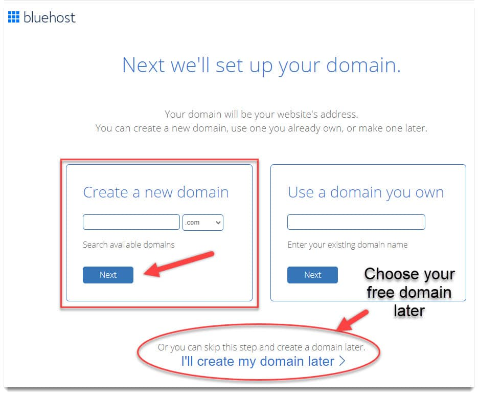 how to start a blog - select your domain name