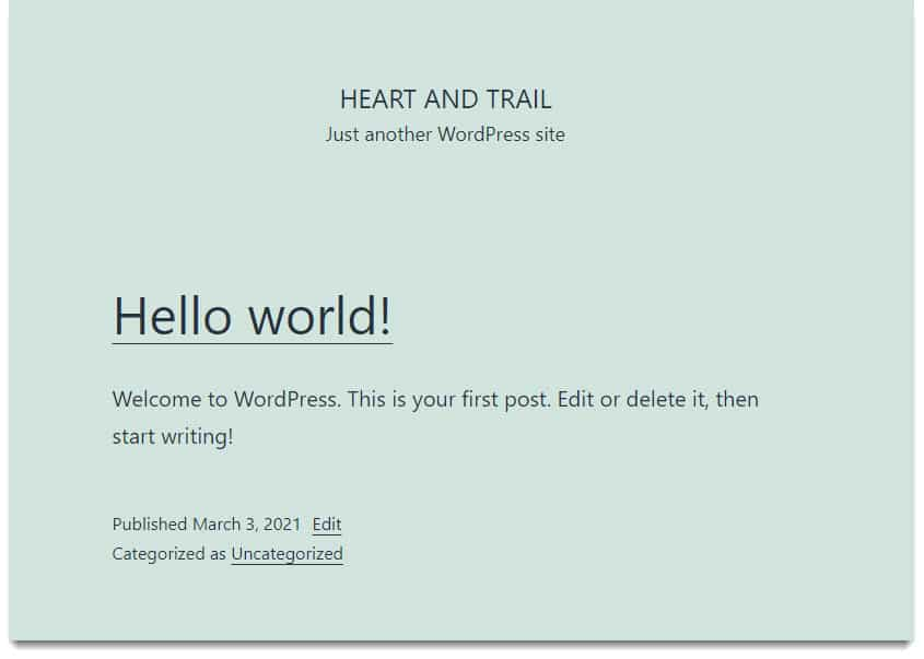Welcome to WordPress - How to start a blog in 2021