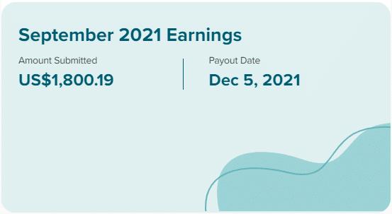 September 2021 MediaVine Earnings